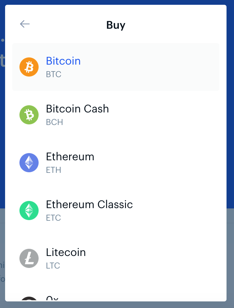 Reiff Crypto list screenshot