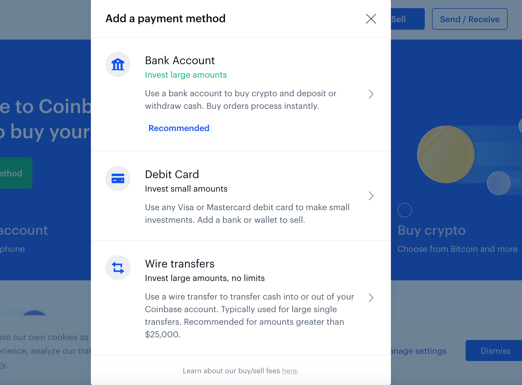Reiff payment method screenshot