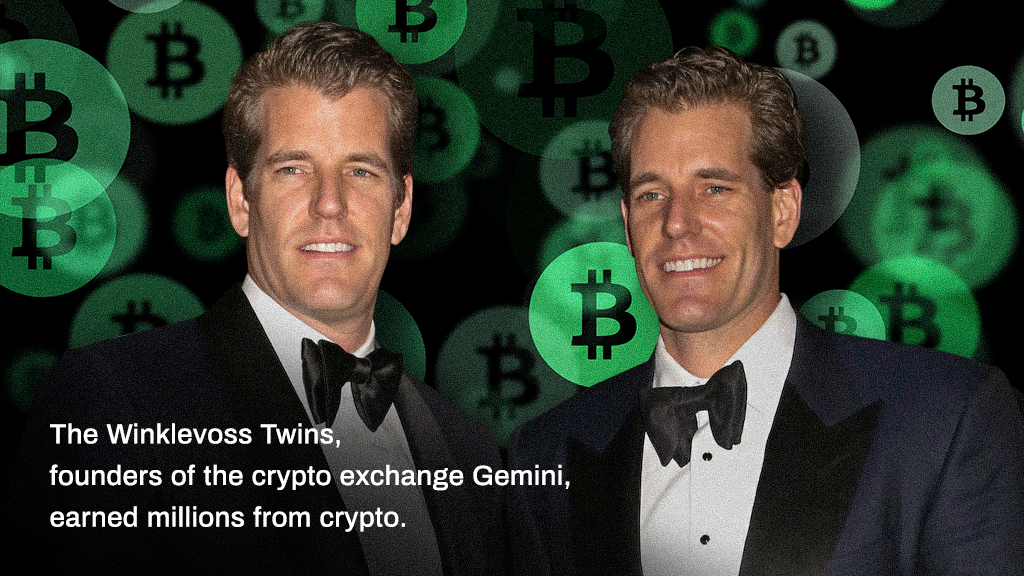 Cameron and Tyler Winklevoss rich with Bitcoin