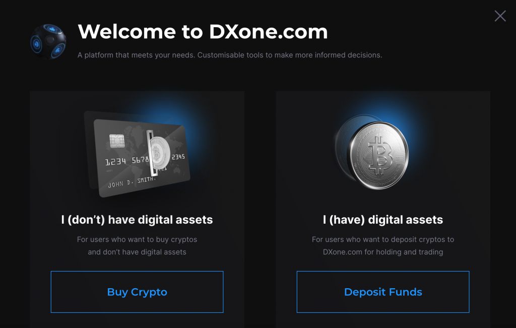 Reiff DXOne Guide 5 Welcome Options